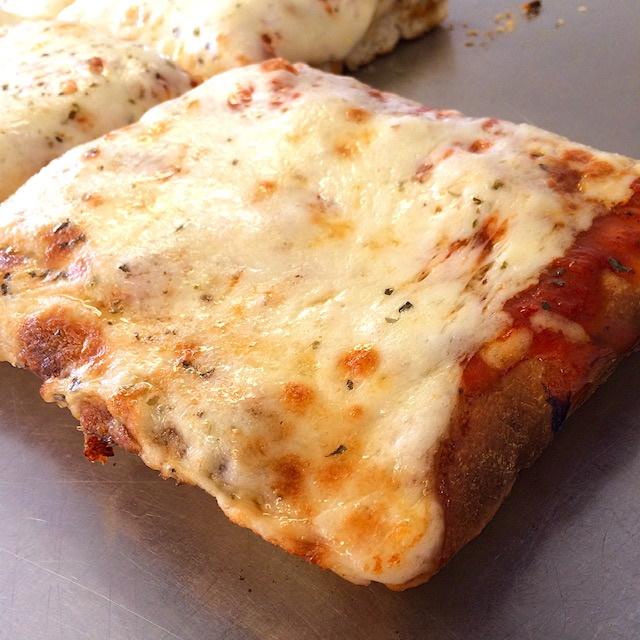 Sicilian pizza square slice